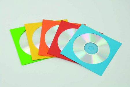 PACK DE 50 SOBRES CON VENTANA DE COLORES SURTIDOS PARA CD FELLOWES