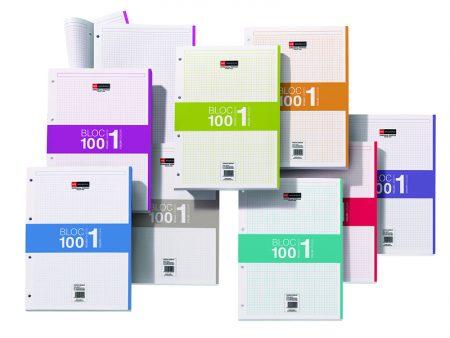 Recambio note book A4 100h cuad 5*5  fucsia 7425