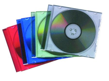PACK DE 25 ESTUCHES SLIM DE COLORES SURTIDOS PARA CD/DVD FELLOWES