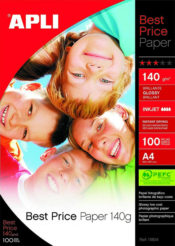PAPEL APLI 10970 INK PHOTO BRIGHT 300 GR 20 H