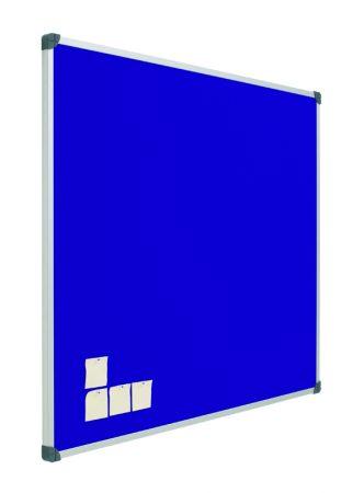 Tablero de corcho tapizado en azul con marco de aluminio de 100 x 175 cm Planning Sisplamo