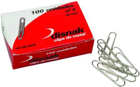Caja de 100 clips galvanizados Disnak 25 MM Nº 1,5