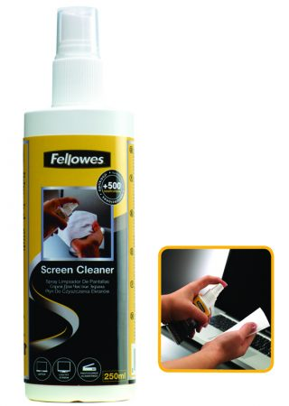 SPRAY PARA LIMPIEZA DE PANTALLAS FELLOWES 250 ML.
