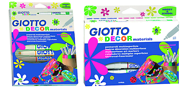 ESTUCHE 12 ROTULADOR GIOTTO DECOR MATERIALS