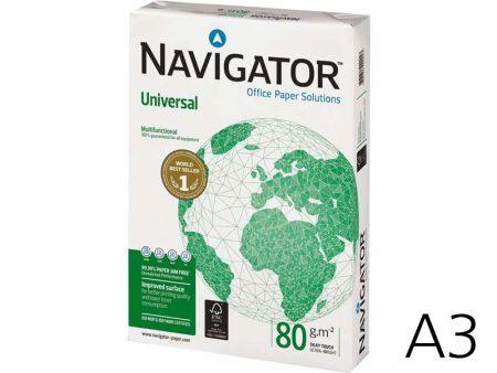 Paquete de papel fotocopia din A3 navigator 90 grs