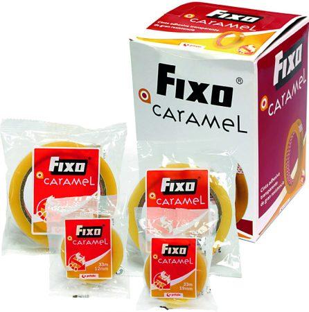 Cinta adhesiva Fixo Caramel transparente 19 mm x 66m