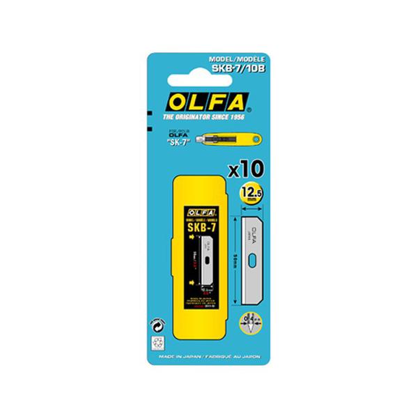 Blíster con 10 cuchillas de recambio para cutter Olfa SK-7