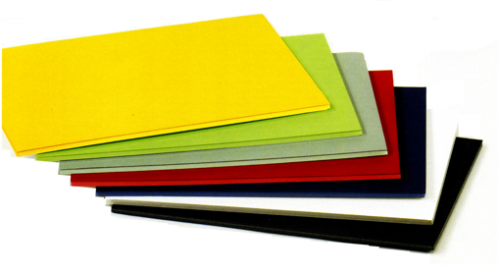 Plancha de cartón pluma azul de 50 x 70 cm con grosor de 5 mm