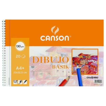BLOCK DIBUJO CANSON BASIK A4+ 20H 130G SIN RECUADRO