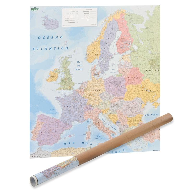 MAPA EUROPA EN ROLLO 93*119
