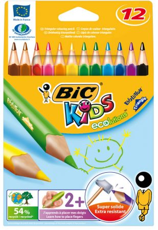 C/12 Lapiceros Bic Kids Triangle XL