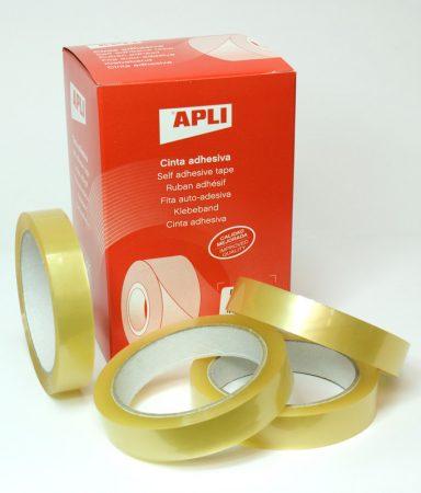 Cinta adhesiva transparente Apli 19 mm x 66m