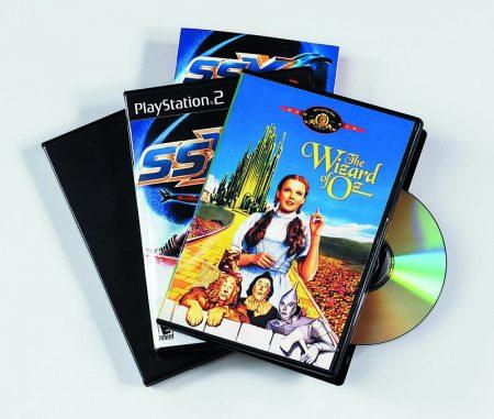 PACK DE 5 CAJAS CON CARÁTULA PARA DVD FELLOWES