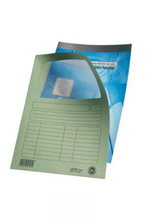 Pack de 100 subcarpetas con ventana Leitz A4 blanco