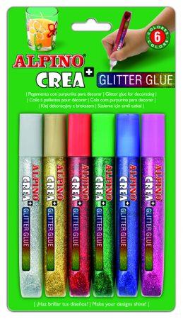 Blíster de 6 pegamentos Alpino Glitter Classic
