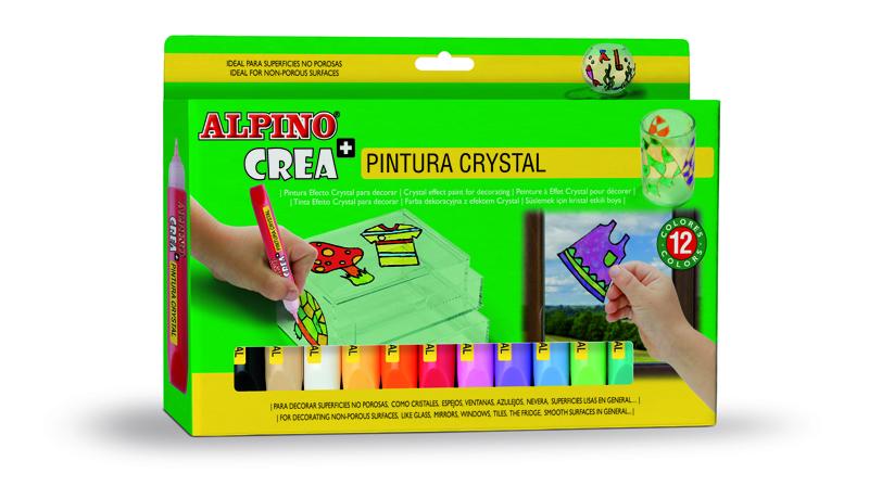 ESTUCHE 12 PINTURA CRYSTAL ALPINO CREA