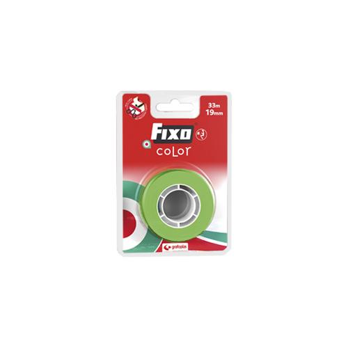Blister de 1 cinta adhesiva Fixo 19mm x 33m verde