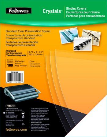 Paquete de 25 láminas de encuadernación de PVC transparente A4 de 180 μ Fellowes
