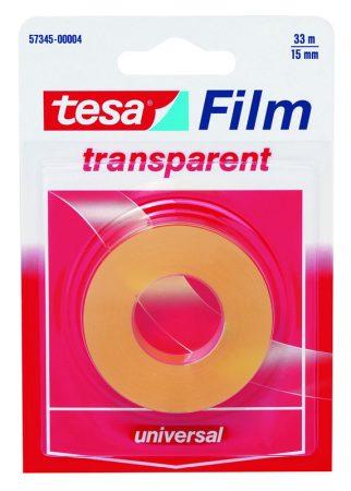 Blister de 1 cinta adhesiva transparente tesafilm 15mm x 33m