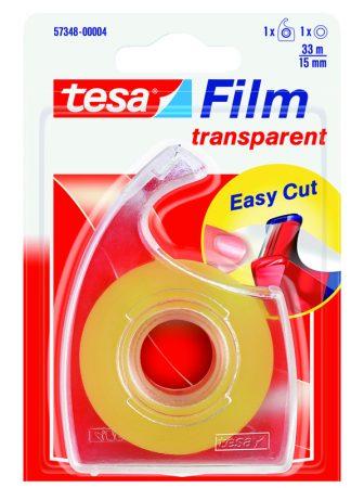 Blister de 1 cinta adhesiva transparente tesafilm 15mm x 33m con dispensador