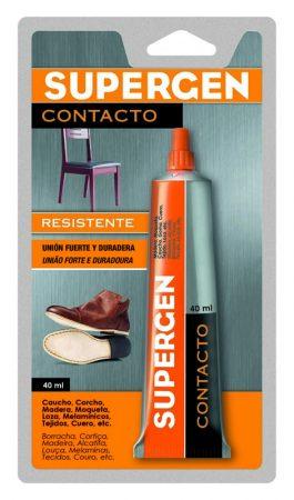 Blíster de 1 pegamento de contacto Supergen 40 ml.