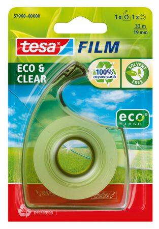 Blister de 1 cinta adhesiva tesafilm eco 19mm x 33m con dispensador