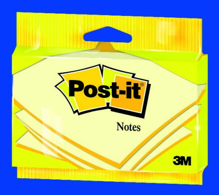 Blíster de 1 taco post it 655 de 76*127 amarillo 6830