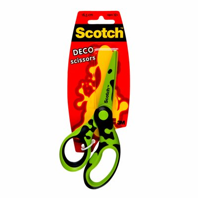 Blister de 1 tijera Scotch Deco escolar 16,5 cm
