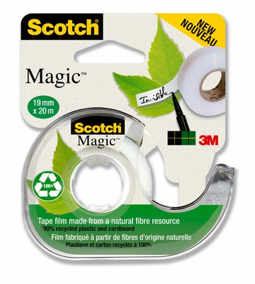 Cinta adhesiva Scotch Magic con dispensador 19mm x 20m