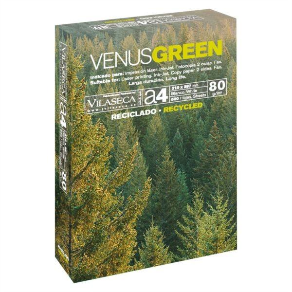 Paquete papel fotocopiadora venus green A4