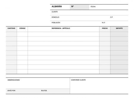 Talonario Albaranes 1/4 aps duplicado a-119 12685