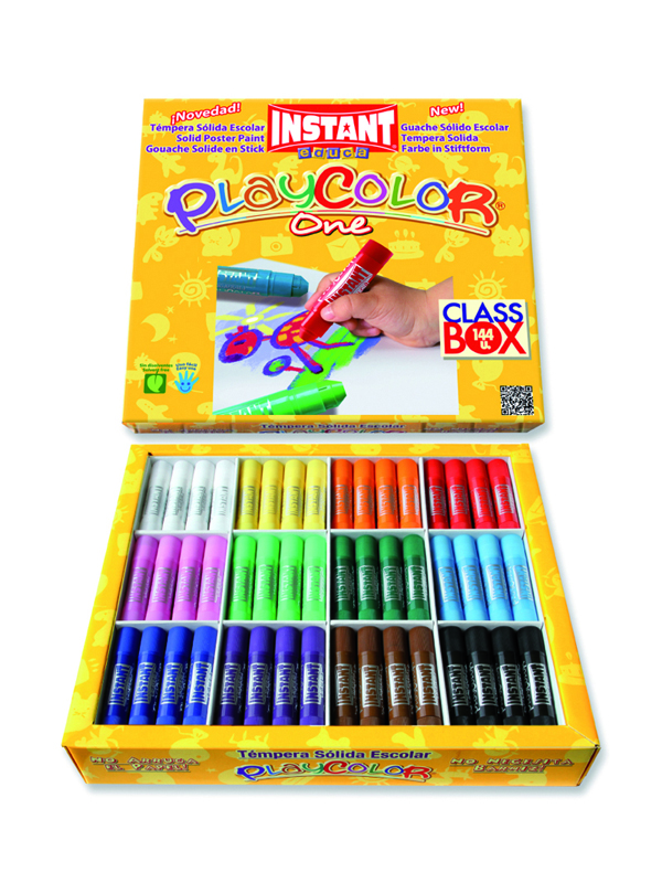 CAJA 144 TEMPERA SOLIDA PLAYCOLOR SURTIDO