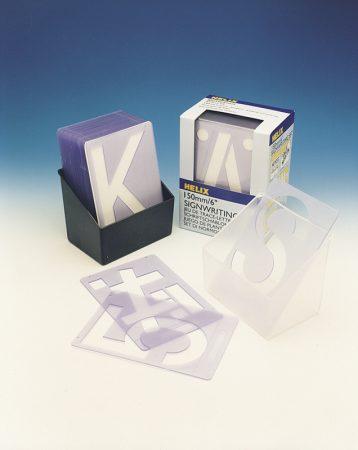 Plantilla de letras y números de 150 mm Helix