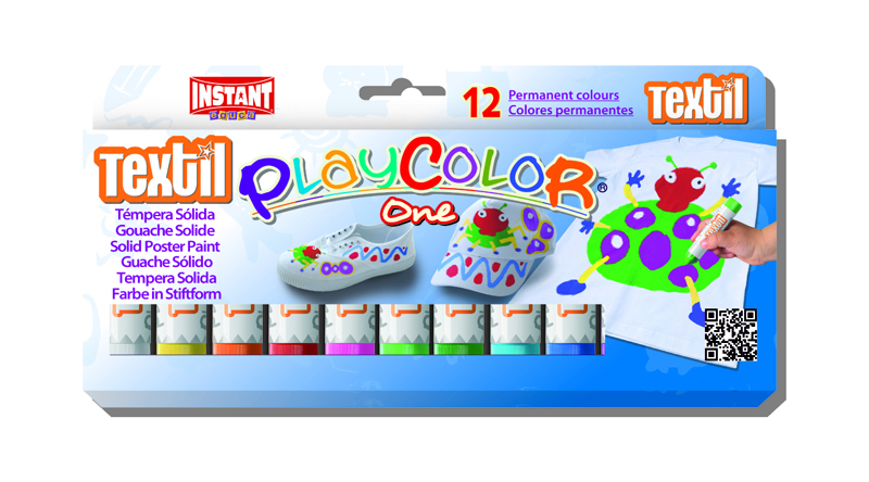 PLAYCOLOR TEXTIL DE 12 COLORES