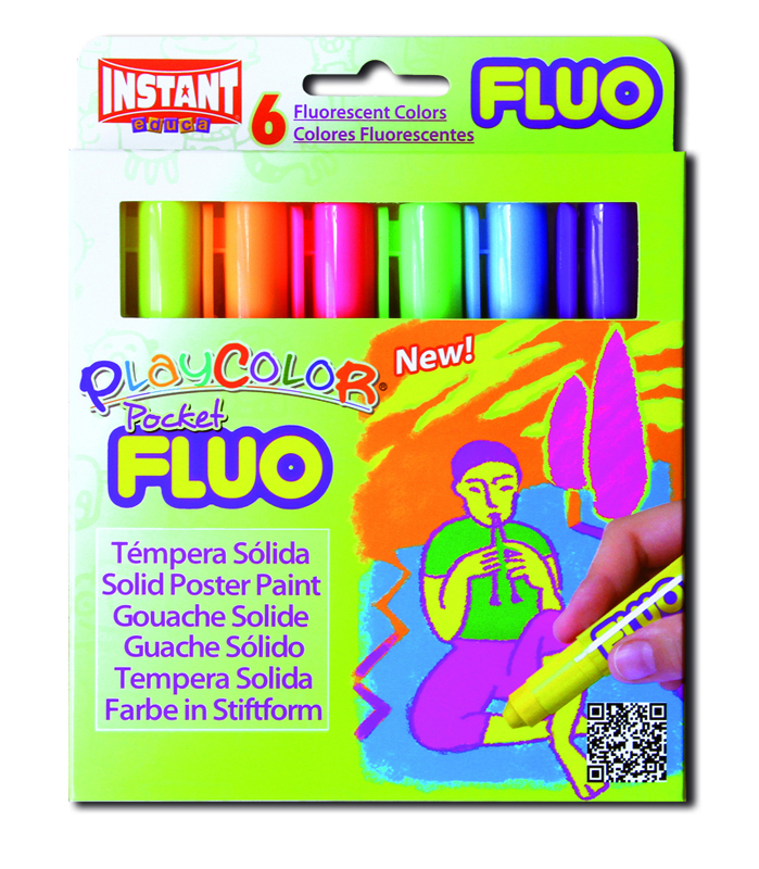 ESTUCHE 6 PLAYCOLOR POCKET FLUOR