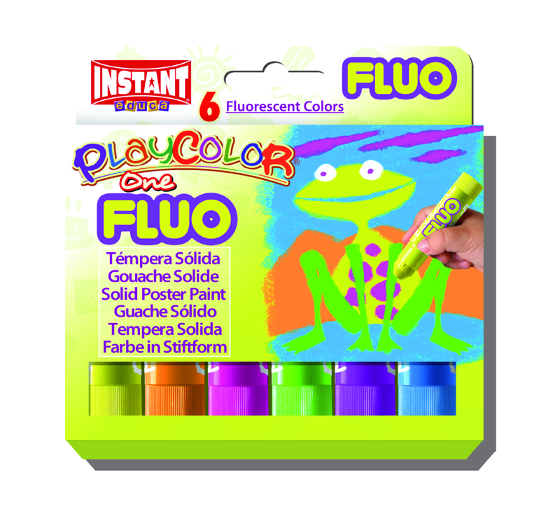 PLAYCOLOR 10431 FLUO ONE 6 COLORES