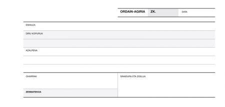 Talonario recibo duplicado euskera a-60 13538