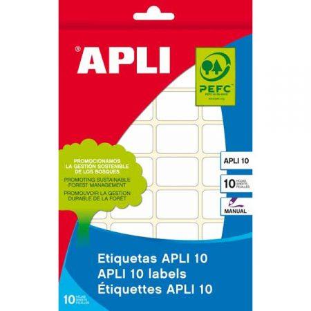 Bolsa de 25 hojas de etiquetas adhesivas blancas con cantos redondos Apli 63,5 x 38,1 mm