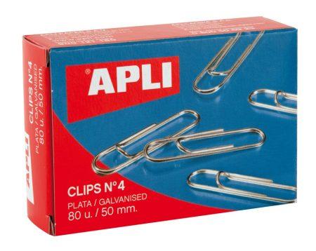 Caja de 80 clips plateados Apli 50 MM Nº 4