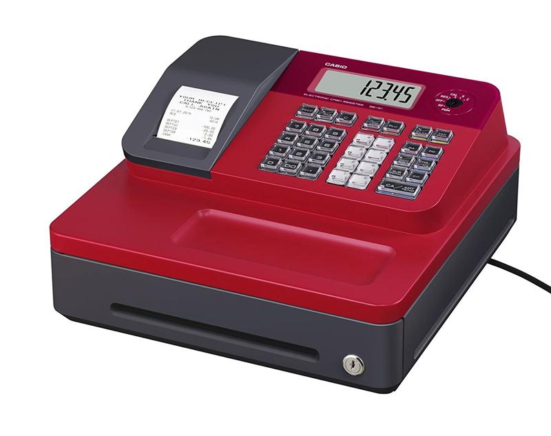 Caja Registradora Casio SEG1- Color rojo