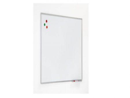 Pizarra lacada blanca con marco de aluminio de 45 x 60 cm Planning Sisplamo