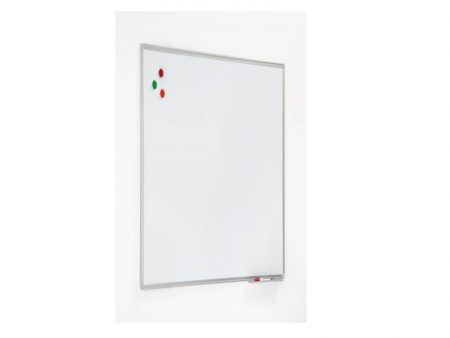 Pizarra lacada blanca con marco de aluminio de 100 x 150 cm Planning Sisplamo
