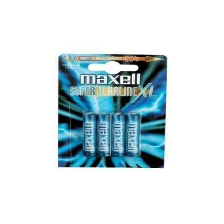 BLÍSTER 4 PILAS MAXELL AAA SUPER ALCALINA 1,5V LR03XL