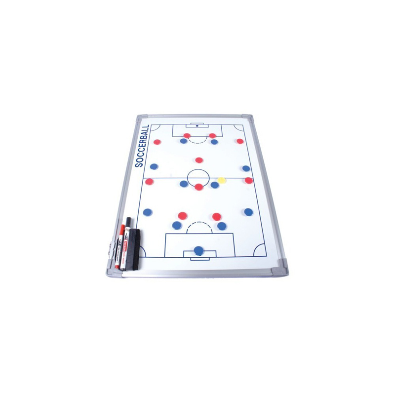 Pizarra táctica blanca para baloncesto con marco de aluminio de 60 x 90 cm Amaya Sport