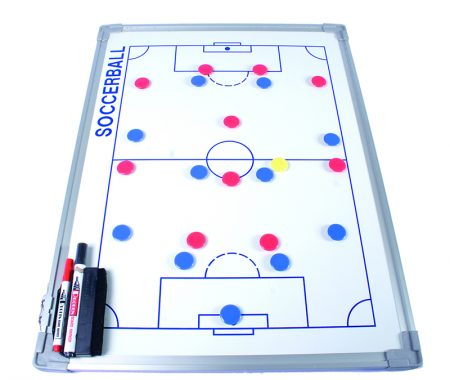 Pizarra táctica blanca para fútbol con marco de aluminio de 60 x 90 cm Amaya Sport