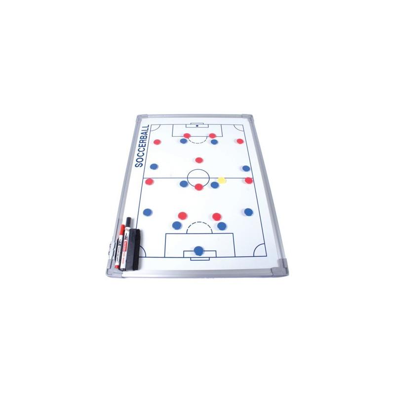 Pizarra táctica blanca para baloncesto con marco de aluminio de 45 x 60 cm Amaya Sport