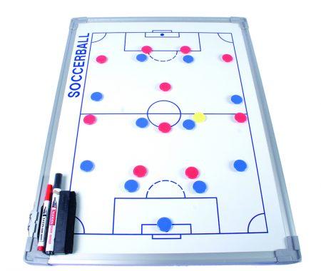 Pizarra táctica blanca para fútbol con marco de aluminio de 45 x 60 cm Amaya Sport
