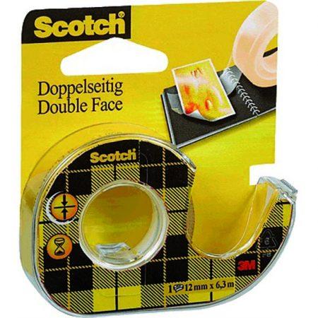 36 cintas adhesivas de doble cara Scotch en portarrollos 12mm x 6m