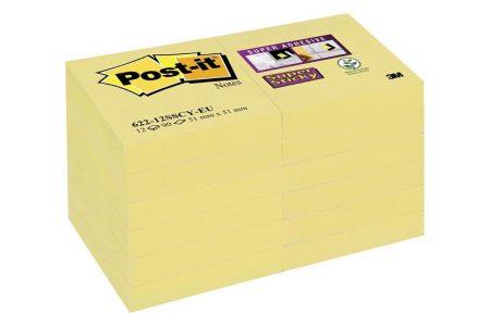 P/12 post it amarillo canario 47,6*47,6 mm 622-12sscy-e