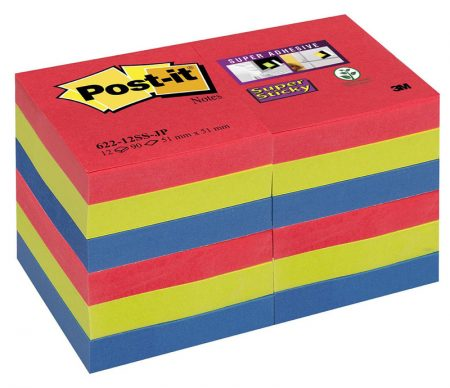 Post it p/12 color joya pop 51*51 m 622-12ss-jp